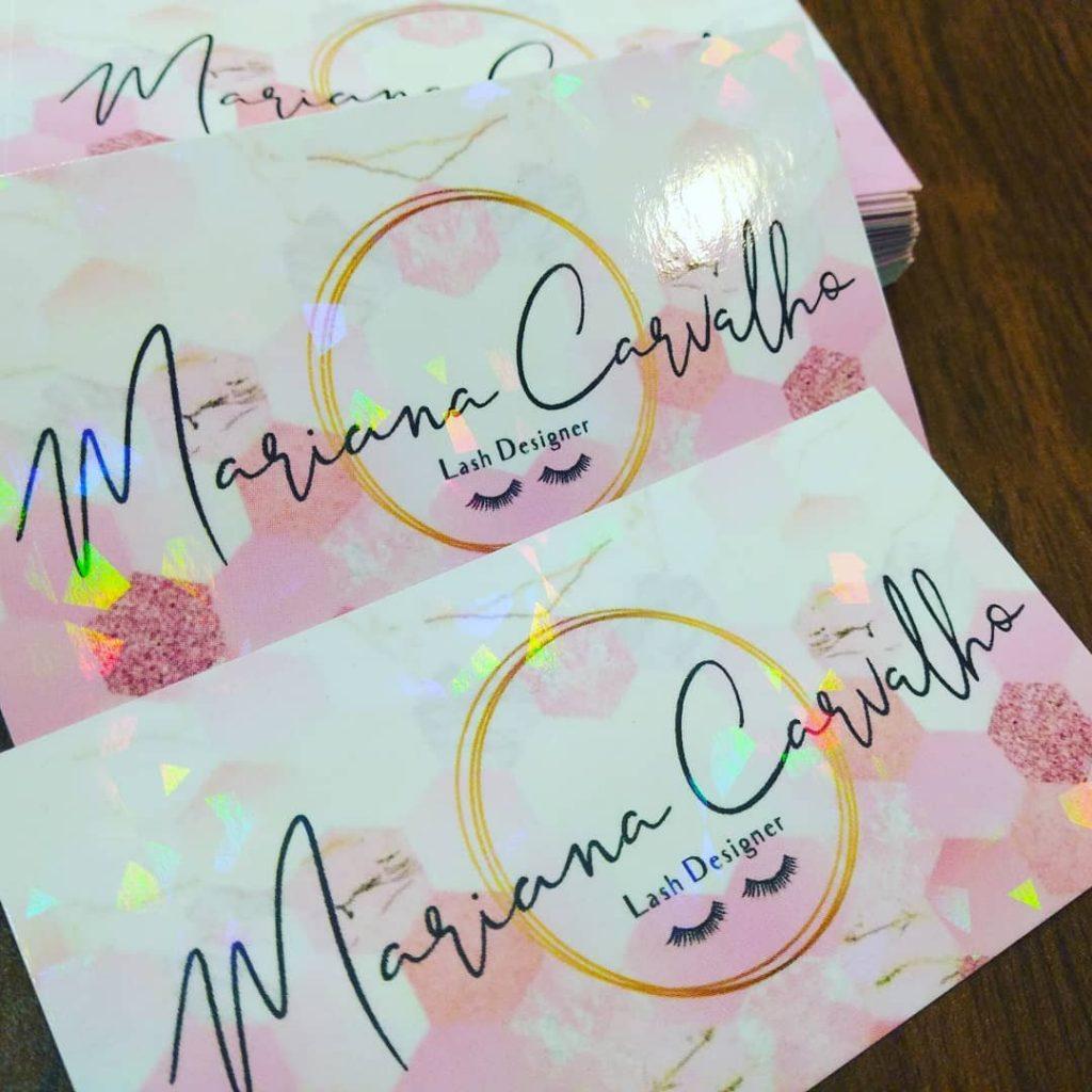 Cartão Holográfico de Mariana carvalho